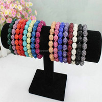 Multy Colors In Stock 2016 Shamballa Bracelets Disco ball Bling Women's Bracelet