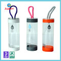 Transparent plastic round tube box with lid