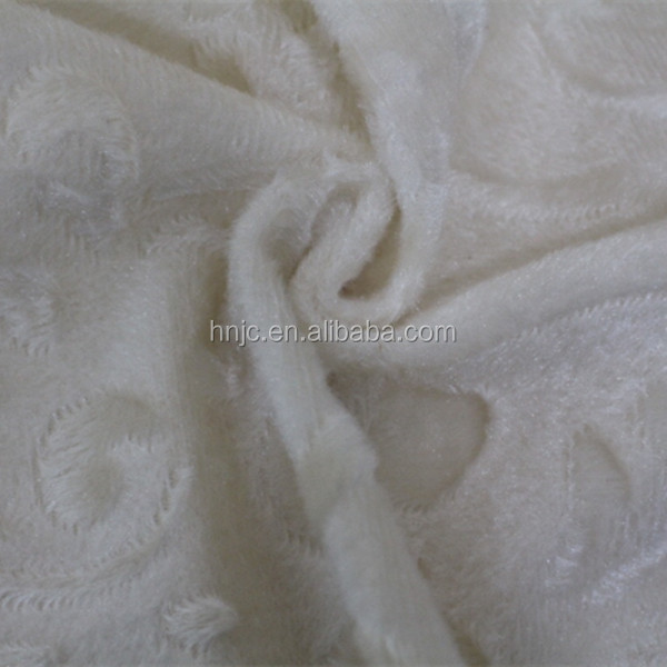 58/60 inch knit white crown pattern sofa fabric with slip resistance feature