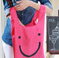 Fashion Eco-friendly Shopping Bags Portable Smiling Face Shopping Bags Top Quality Foldable Shopping Bags