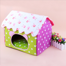 2015 Wave Point Patterned Lovely Pet Dog House From China