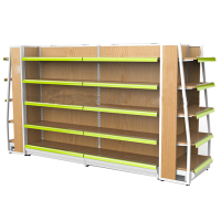 Supermarket Single Double Sided Wooden Display