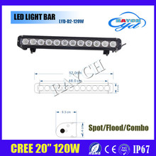 20 inch 120W CR-EE LED Light Bar Spot Flood Combo 4WD Boat UTE Driving Lamp SUV ATV