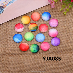 15*15mm Time Gems Acrylic Planet Round Stones Fashion Decoration