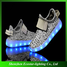 Factory wholesale OEM USB charged led light kids shoes for boys girls