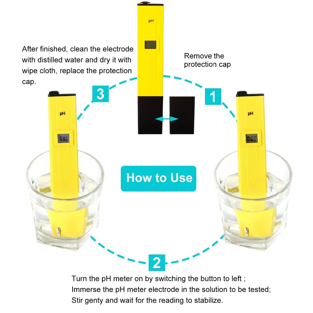 Quick response Digital pH meter Portable pH meter