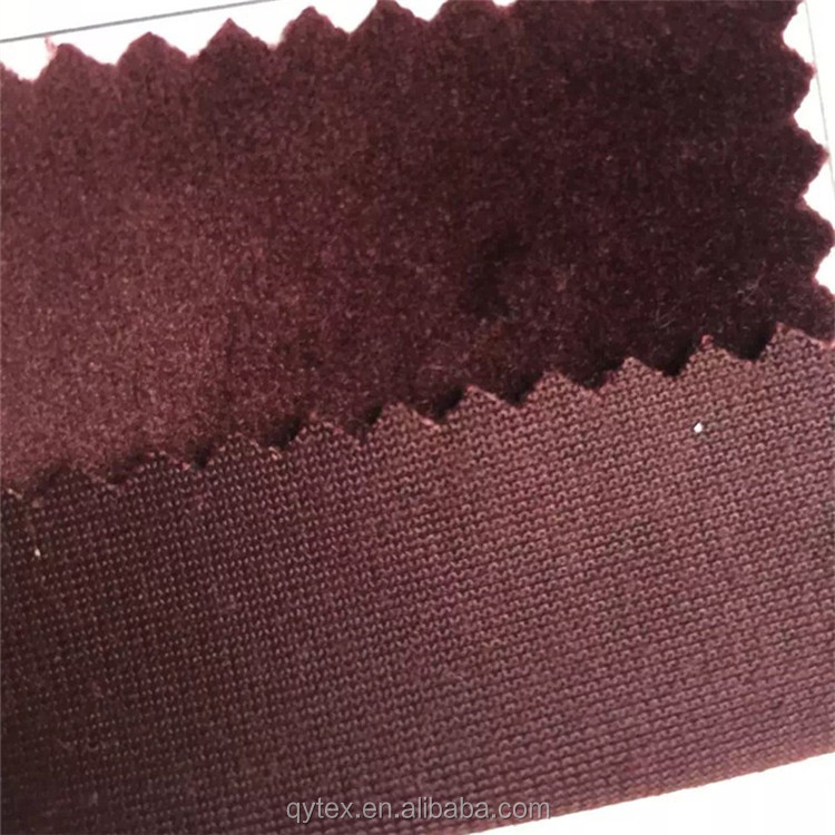 High Quality Warp Knitted 144F Polyester Beautiful Micro Velvet/Velour Fabric for Leisure Suits