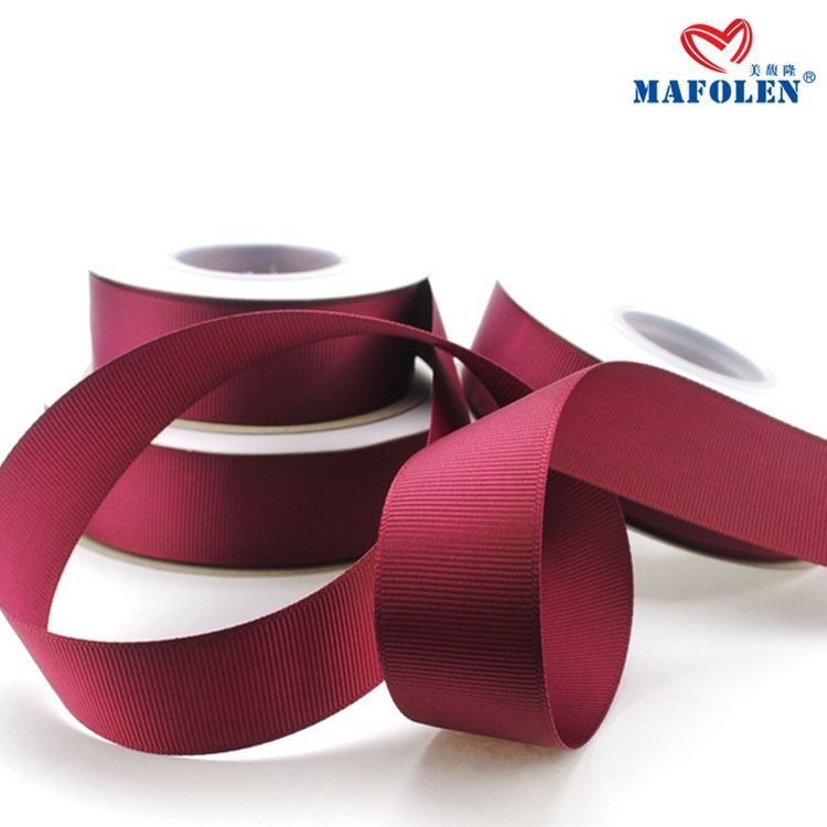colorful polyester ribbon wholesale grosgrain ribbon tape for gift packing