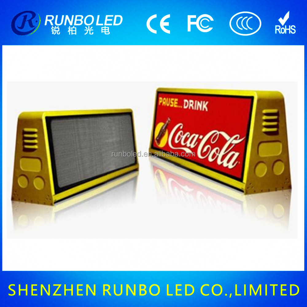 New product 2016 taxi/car/cab/truck roof top advertising led display