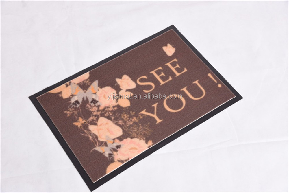 sweet shaped digital printed anti-fatigue floor mat with PVC backing