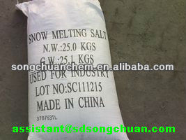 sodium chloride for snow melting and deicing