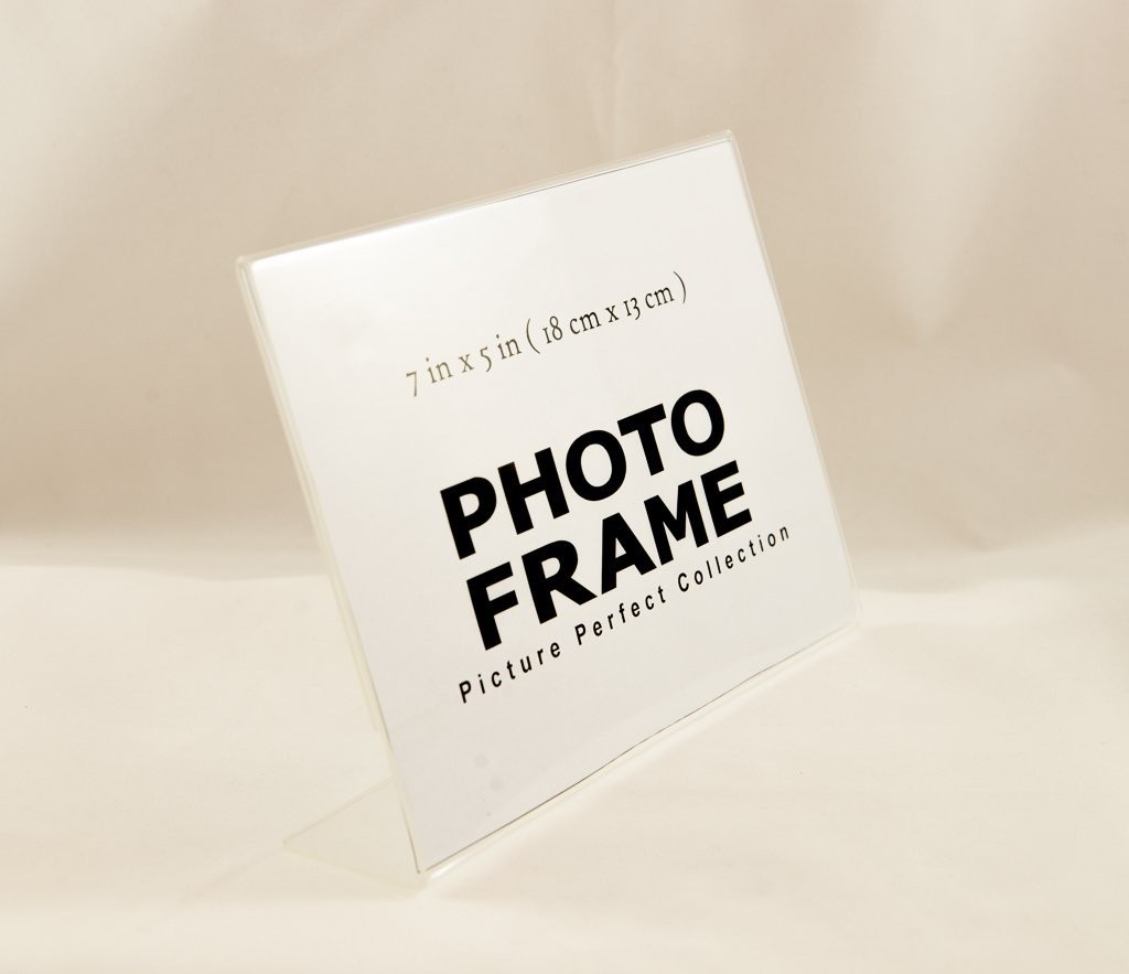 5x7 L shape acrylic picture frame acrylic photo frame