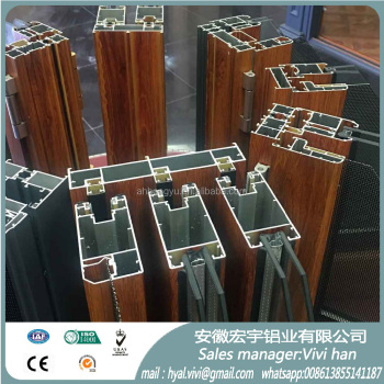 wooden shift aluminium profile