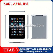 1024*768,HDMI,0.3+2.0 CAMERA,tablet pc 7.85