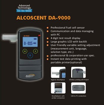 ALCOSCENT DA-9000 Digital Breathalyzer