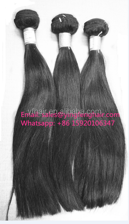 full thick bottom double drawn brazilian virgin hair human hair weave straight bundles factory wholesale
