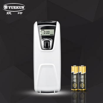 factory indoor room battery operated automatic LCD aerosol dispenser with timing