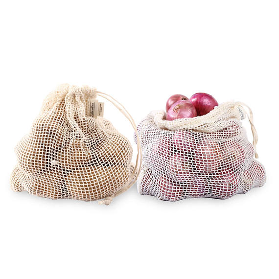 Hot sale cotton mesh Produce Bags Reusable Vegetable Bag