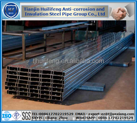 Hot dip galvanized steel channel C steel channel Usteel channel