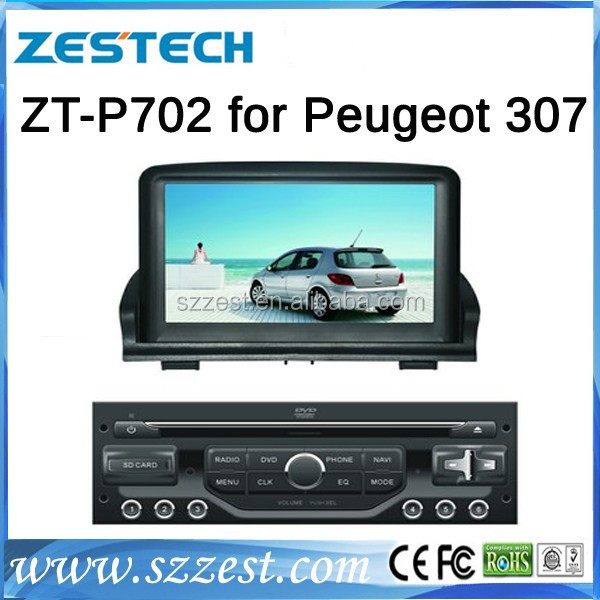For Peugeot 307 seperate car dvd gps navigation system best selling car accessories with Radio/3G/Bluetooth/ SWC/Visual-10 dics