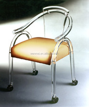 Luxurious clear acrylic dining chair for home and hotel