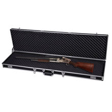"Locking Rifle Gun Case 53"" Long Aluminum Lock Box Shotgun Storage Box Carry Case"