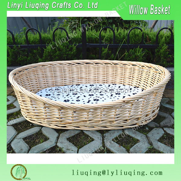 Oval willow Pet basket For Cats and Dogs