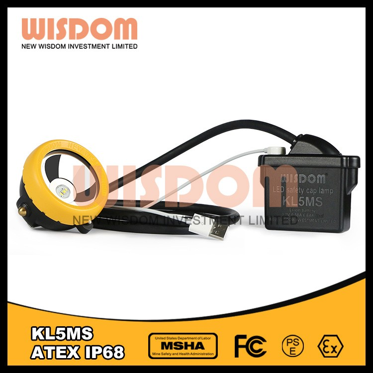 WISDOM KL5M LED miner's cap lamp 16000lux 13 working hours led mining cap lamps