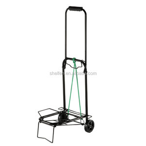 wholesale portable plastic small rolling folding shopping cart with 4 wheels
