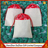 Custom Eco-friendly Cotton Drawstring Small Linen Bags For Gift