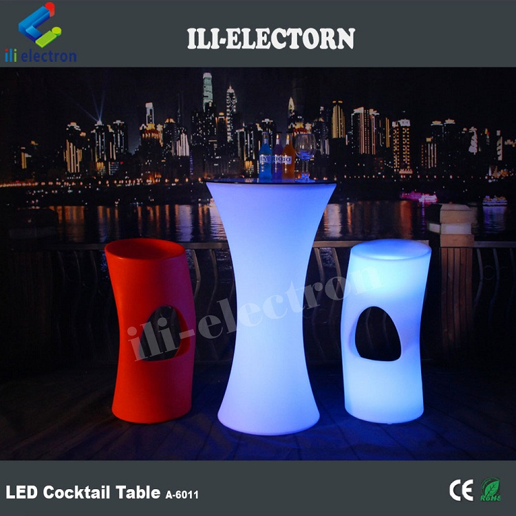 Color changing led bar table/ plastic led table chair / illuminated led furniture