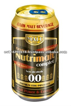 NUTRIMALT Premium Dark Malt Beverage Non-alcoholic canned 24x33cl