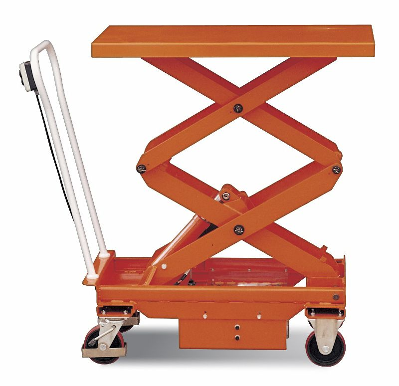 Manual Hydraulic Lift : Mobile manual hydraulic scissor lift table platform