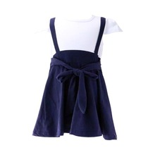 New Fancy White & Black Frock Child Dress Baby Girls Dresses For 2-6 Years