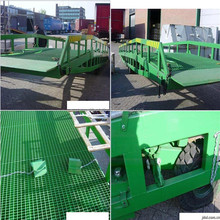 Power auto mobile dock ramp/Auto forklift working ramp