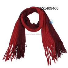 Good Quality Winter Knitted Scarf Tassel Fringes Scarves