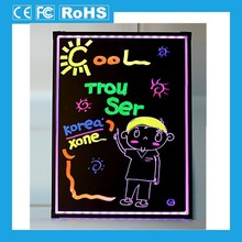 2014 new design acrylic led writing board;led glow sign board; glowing led menu board for sale
