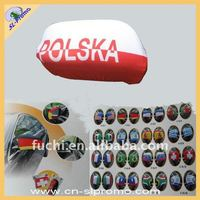 Hot Sell Polyester Poland Flag Car Mirror Sock
