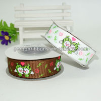 Cartoon Avatar Printing Grosgrain Ribbon For Celebrate