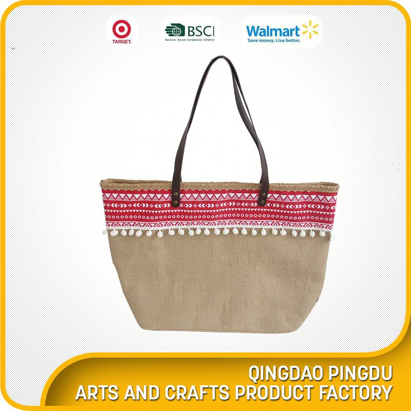 Exporter For Top Quality New Design Fashion Ladies Fancy Jute Bag