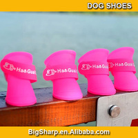 50sets Pet products Dog shoes For Rain Days Candy colour Teddy Pet Dog Antislip Waterproof dog Rainboots Rain Shoes PS-001