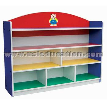 Multi-coloured Large Storage Shelf