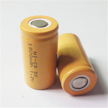 Rechargeable SC 1.2V 2000mAh NiCD Battery