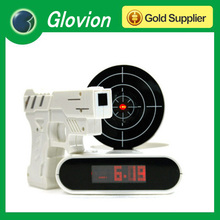 New arrvial laser gun shooting alarm clock shoot target