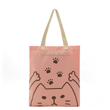 China manufacturer custom printed natural cotton canvas cloth carry tote shopping bag