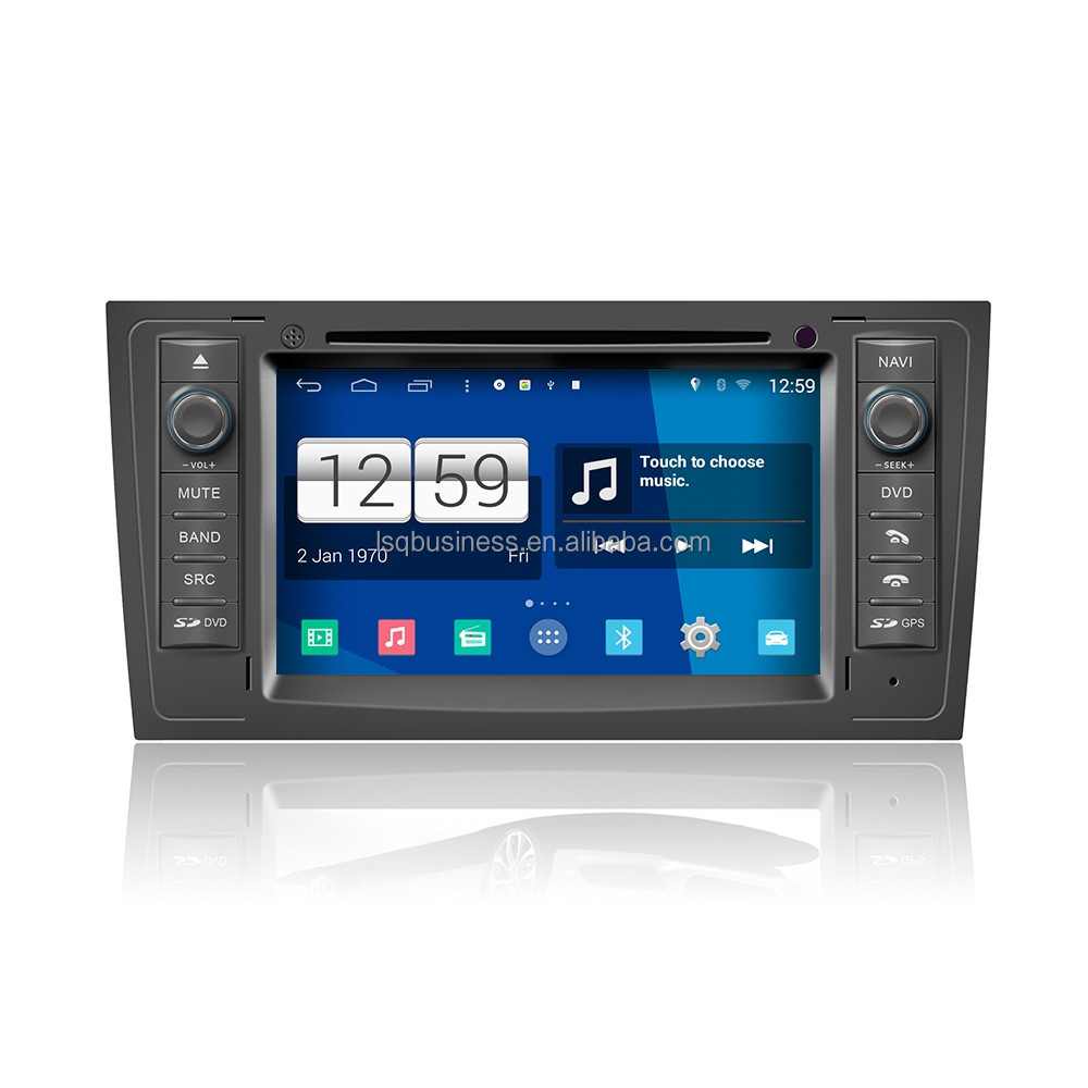 Android 4.4.4 HD 1024*600 Car DVD Player GPS Radio Multimedia Navigation System for Audi A6