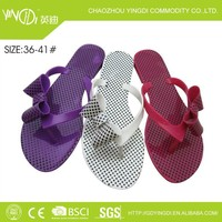 UPPER PVC butterfly shaped sweet women candy color black wave points slippers shoes no wedge heels slippers