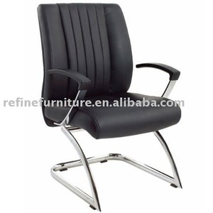 modern comfortable black leather office client chairs RF-V003A