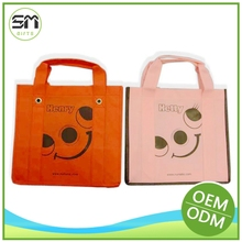 Custom wholesale stylish design recycle ribbon tie gift bags