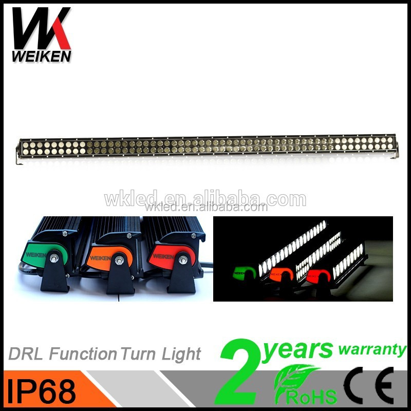 IP68 high bright 51.5 inch quad row 324w led light bar for 4x4 offroad vehicles